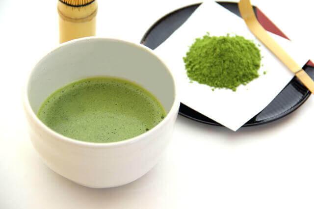 カテキンを多く含む抹茶の写真。